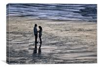Engagement on the beach, Canvas Print