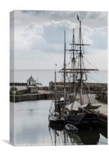 Tall Ships in Charlestown Harbour, Canvas Print