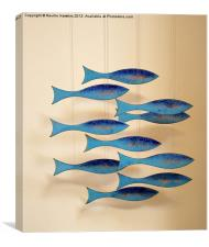 Fish on the Line, Canvas Print