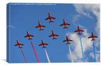The Red Arrows (2/3), Canvas Print