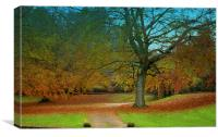 Autumn At Sandringham, Canvas Print