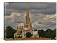 Church of St Mary (Snettisham Norfolk), Canvas Print