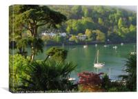 Dart Estuary at Dartmouth from Kingwear, Canvas Print