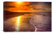 Sunrise Exmouth Beach, Canvas Print