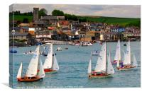 Dinghy racing at Salcombe, Canvas Print