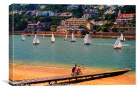 Salcombe, Devon, Canvas Print