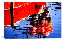 Reflections Mevagissey Harbour , Canvas Print