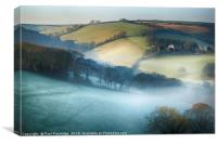 Misty Devon Valley, Canvas Print