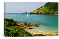 Salcombe Estuary Mouth Impression, Canvas Print