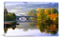 River Dart at Totnes in Autumn, Canvas Print