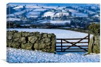 Widecombe Church in the Snow, Canvas Print