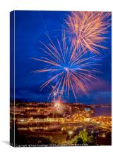 Brixham Firework Display, Canvas Print