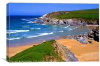 Porth Joke Beach, Cornwall, Canvas Print