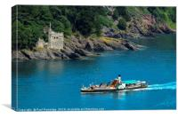 The Paddle Steamer 'Kingswear Castle' , Canvas Print