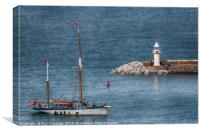 The Vigilance Returning to Port, Canvas Print