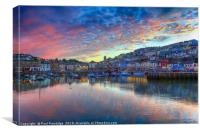 Twilight at Brixham                              , Canvas Print