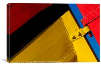 Colouful Boat Stern, Canvas Print