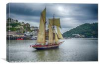 The Johanna Lucretia Leaving Dartmouth   , Canvas Print