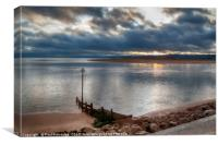 The Exe Estuary at Exmouth, Canvas Print