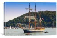 The Kaskelot at Dartmouth                         , Canvas Print