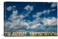 Beach Huts and Sky, Canvas Print