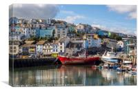 A Corner of Brixham Harbour, Canvas Print