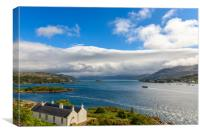 Kyle of Lochalsh view, Canvas Print