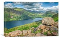 Buttermere Lake from Red Pike , Canvas Print