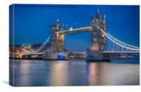 Tower Bridge in the Evening, Canvas Print