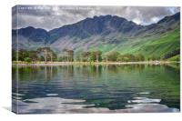 Buttermere Lake Reflections, Canvas Print