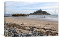 St Michael's Mount at Low Tide, Canvas Print