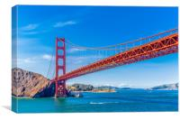 Golden Gate on Clear Day, Canvas Print