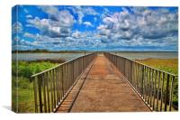 Fishing Pier in Marsh, Canvas Print