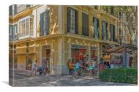 Hippy Market in Palma, Canvas Print