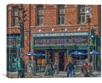 J&M Cafe and Cardroom, Canvas Print