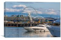 Cruising Past the Wheel, Canvas Print