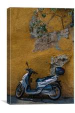 Scooter in Villiefrance, Canvas Print