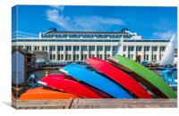 Rowboats at Museum of History and Industry, Canvas Print
