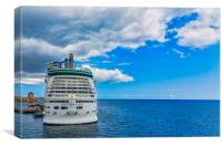 Adventure of the Seas in Curacao, Canvas Print