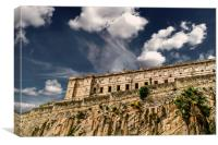 Old Prison on Cliff, Canvas Print