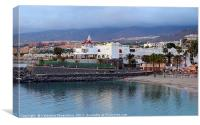 Puerto Colon beach,Tenerife., Canvas Print
