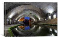 The Old Canal Tunnel, Birmingham, Canvas Print