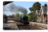 Flying Scotsman at Kirkby Stephen, Canvas Print