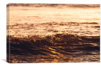 Liquid Gold Atlantic Ocean Waves 4181, Canvas Print
