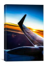 Sleek Jet Twilight, Canvas Print