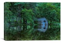 Wastwater Boat house reflection, Canvas Print