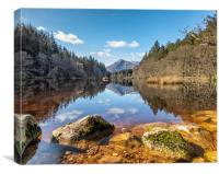View from lake Lochan, Canvas Print