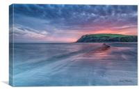 St Bees Beach at Sunset, Canvas Print