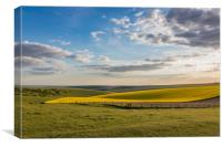 Blue Skies over rolling Sussex countryside, Canvas Print