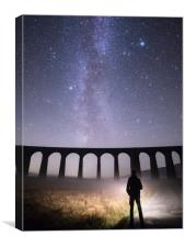 Ribblehead Viaduct and the Milky Way, Canvas Print